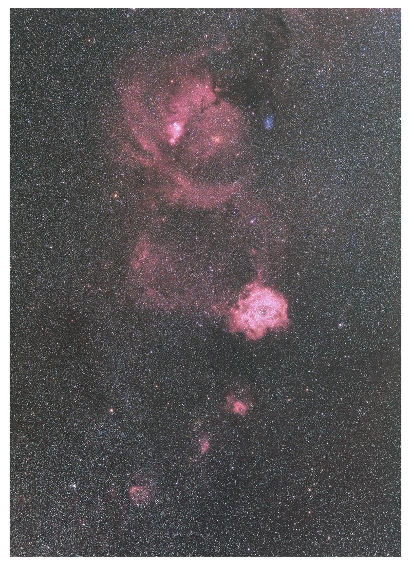 いっかくじゅう座の散光星雲