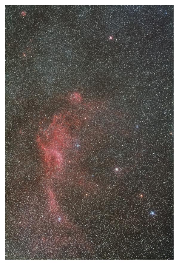 おおいぬ座の散光星雲