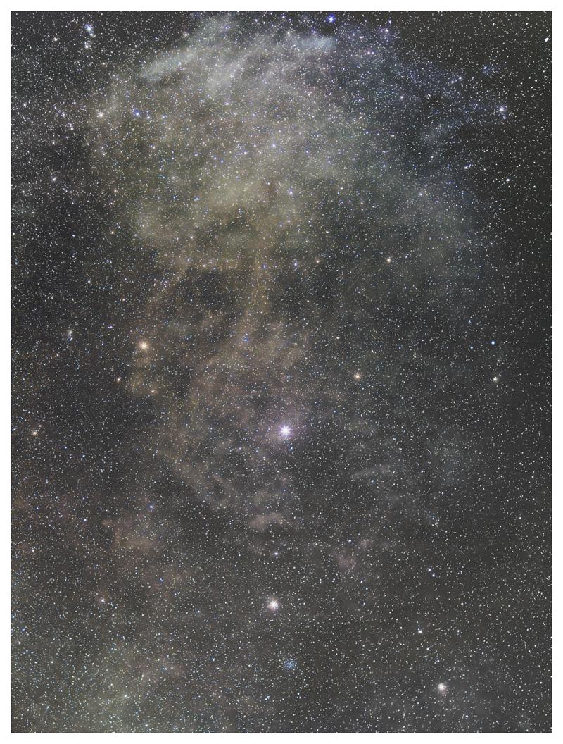 北天の分子雲(北極星付近)