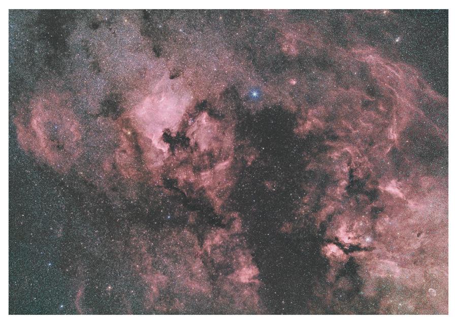 はくちょう座北部の散光星雲群