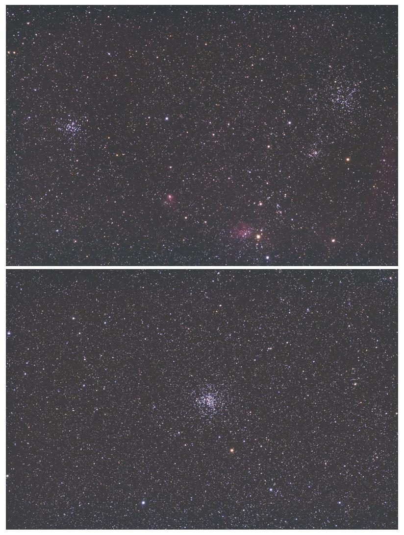 ぎょしゃ座の散開星団
