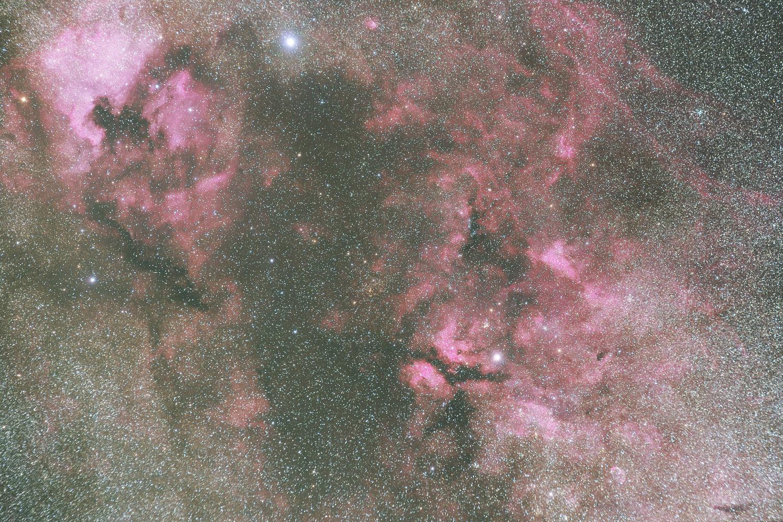 はくちょう座の散光星雲